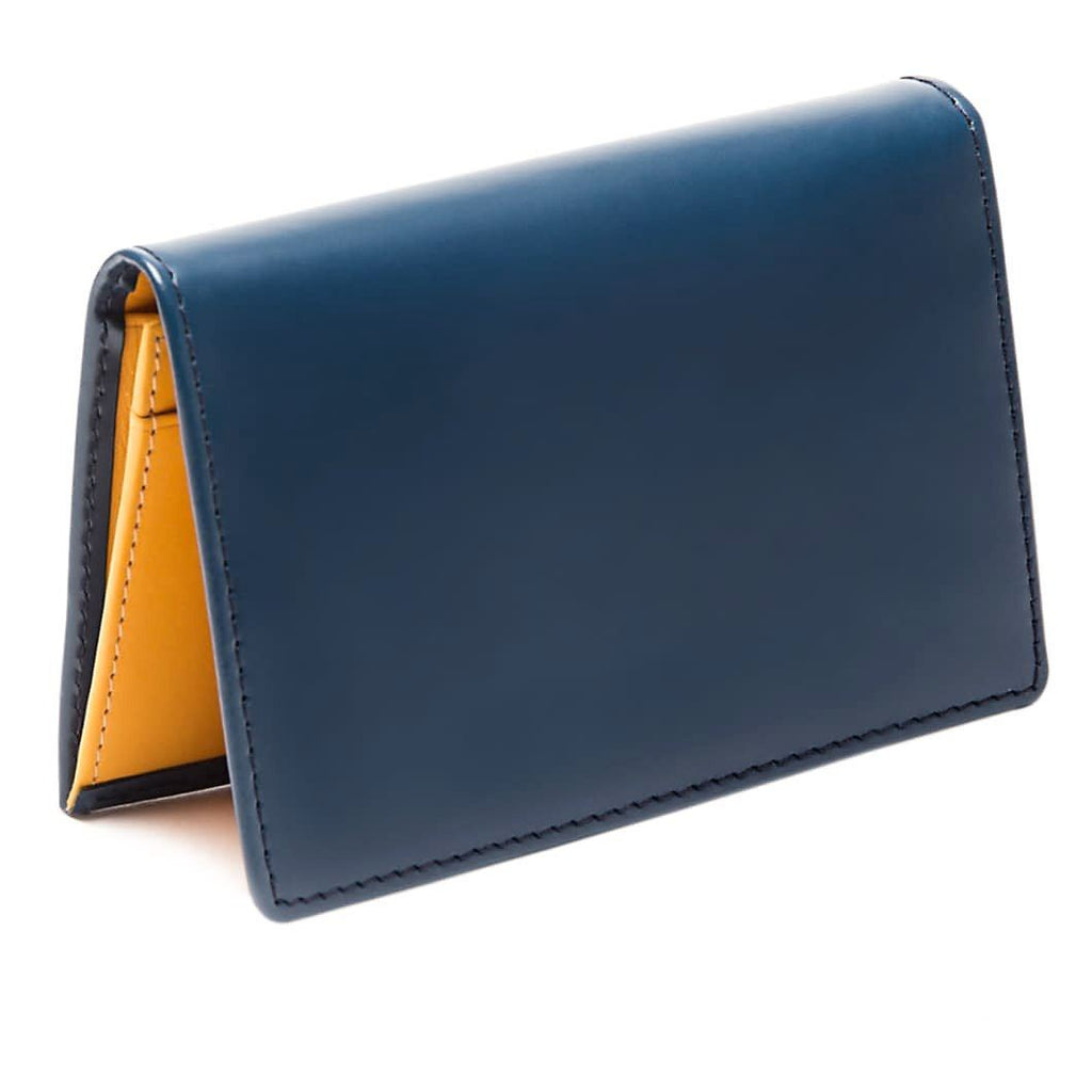 Ettinger Bridle Hide Business Card Case Leather Wallet Ettinger Petrol Blue