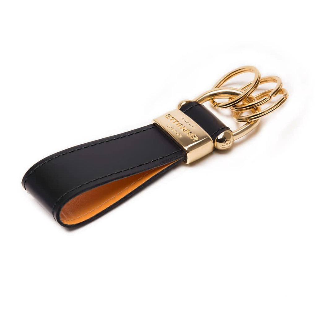 Ettinger Bridle Hide Stirrup Keyring, Black