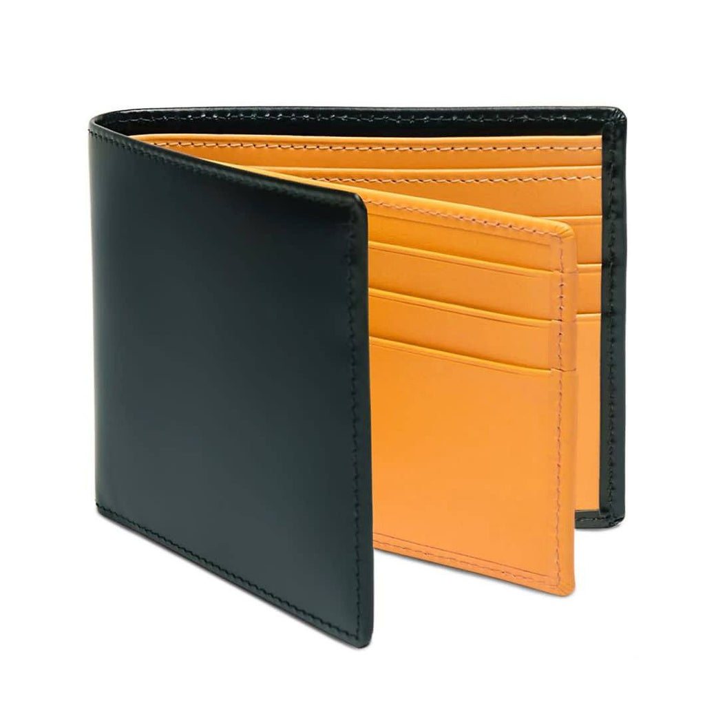 Ettinger Bridle Hide Billfold With 12 Credit Card Slots Leather Wallet Ettinger Green