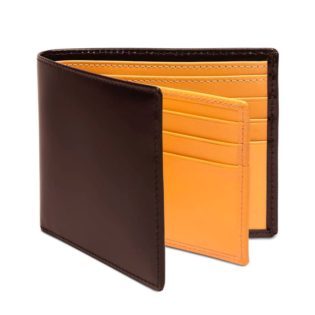 Ettinger Bridle Hide Billfold With 12 Credit Card Slots Leather Wallet Ettinger Nut