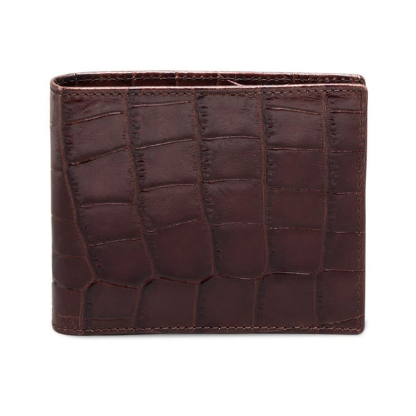 Ettinger Croco Billfold Leather Wallet with 6 CC Slots