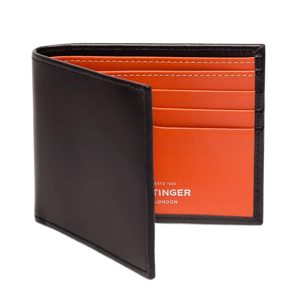 Ettinger Sterling Billfold Leather Wallet with 6 CC Slots Leather Wallet Ettinger Orange