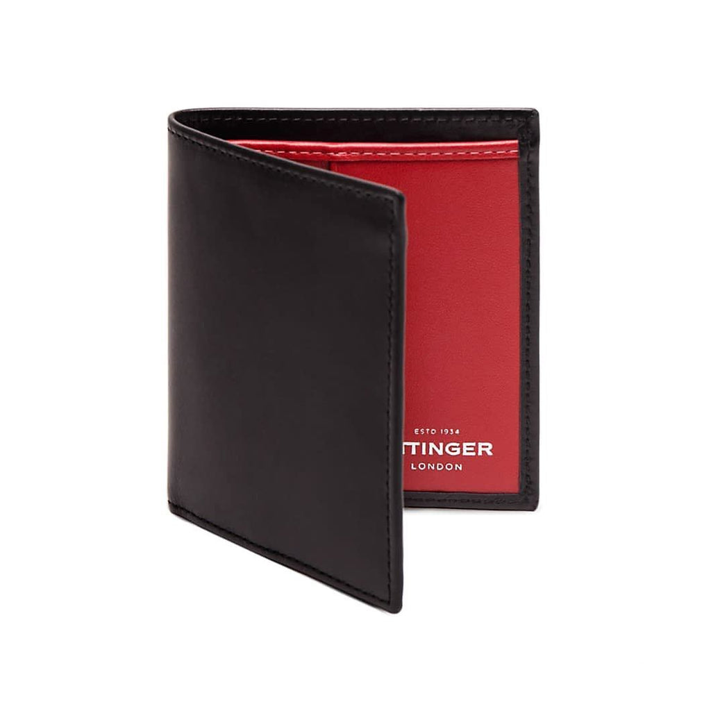 Ettinger Sterling Mini Leather Wallet with 6 Credit Card Slots Leather Wallet Ettinger Red