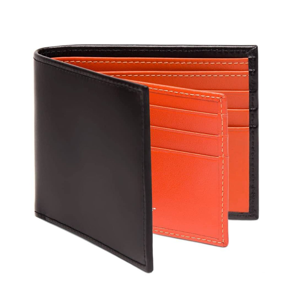 Ettinger Sterling Billfold Leather Wallet with 12 CC Slots Leather Wallet Ettinger Orange