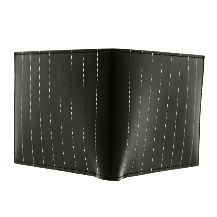 Ettinger Pinstripe Billfold Leather Wallet, Black Leather Wallet Ettinger