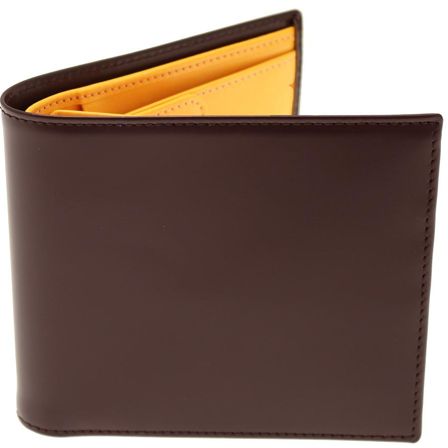 Ettinger Bridle Hide Billfold with 6 CC Slots and Coin Pocket Leather Wallet Ettinger Nut