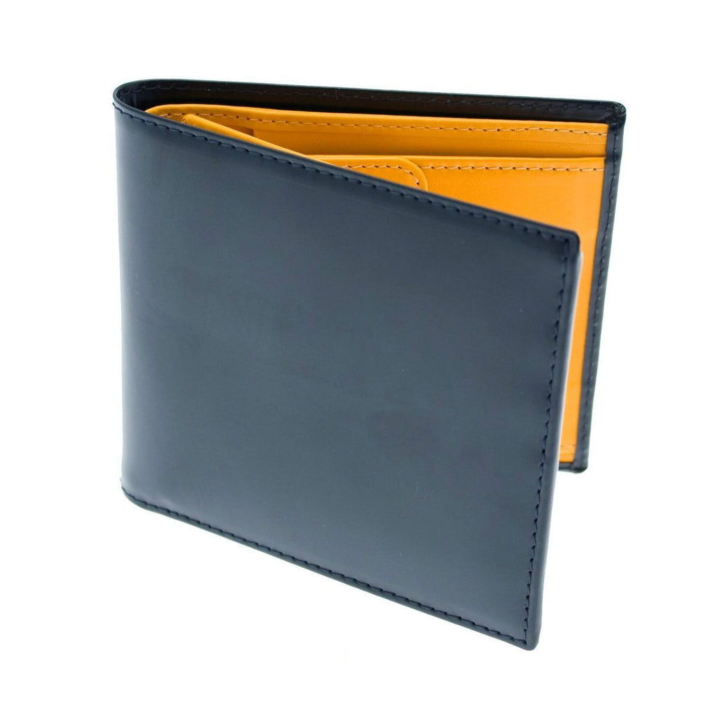 Ettinger Bridle Hide Billfold with 6 CC Slots and Coin Pocket Leather Wallet Ettinger Navy