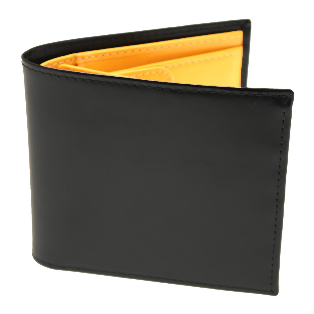 Ettinger Bridle Hide Billfold with 6 CC Slots and Coin Pocket Leather Wallet Ettinger Black