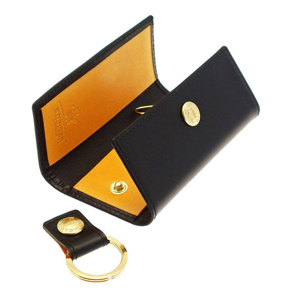 Ettinger Bridle Hide 4-Hook Valet Key Case, Black - Fendrihan - 3