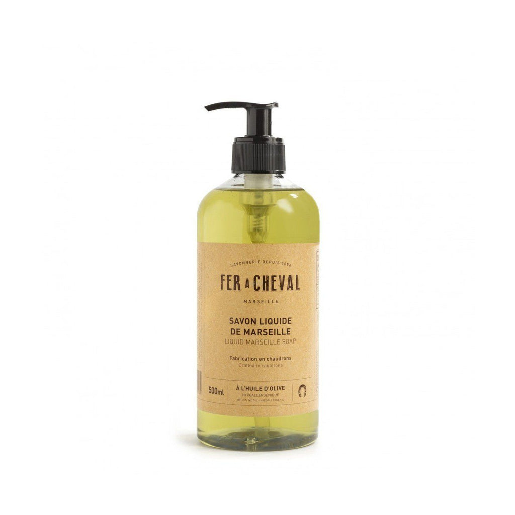 Fer à Cheval Liquid Marseille Olive Oil Soap Men's Body Wash Fer à Cheval 500 ml (16.9 fl oz)