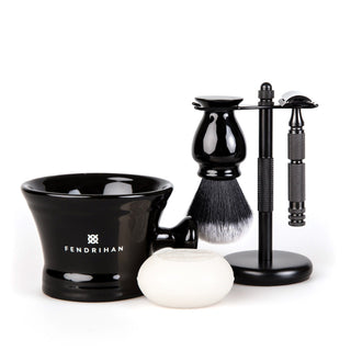 5-Piece Wet Shaving Set with Stainless Steel Safety Razor, Save $25 Shaving Gift Set Fendrihan Adventurer MK II 22 mm Coconut & Vanilla