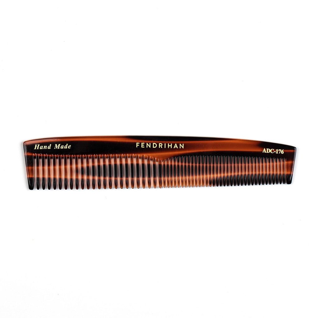 Fendrihan Hand-Finished Double Tooth-Comb, Faux Tortoise