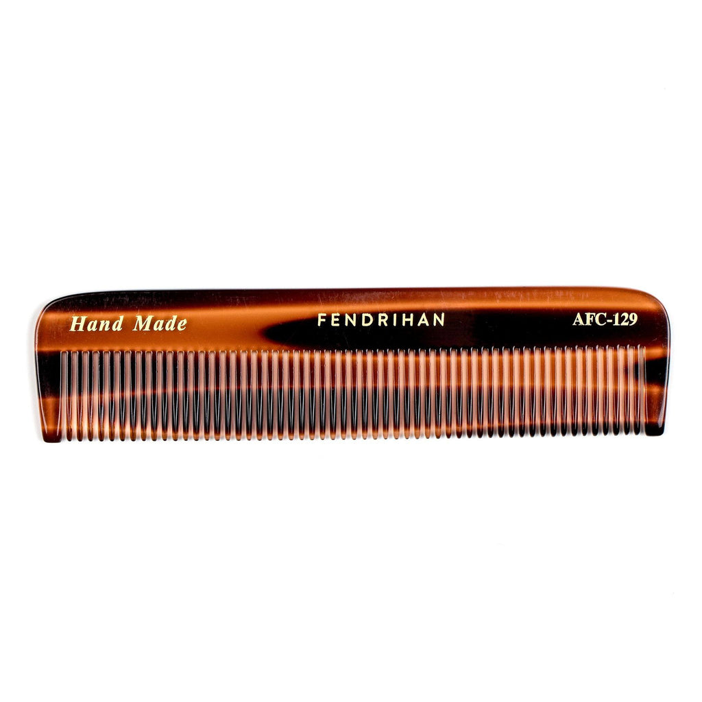 Fendrihan Hand-Finished Fine-Tooth Pocket Comb, Faux Tortoise