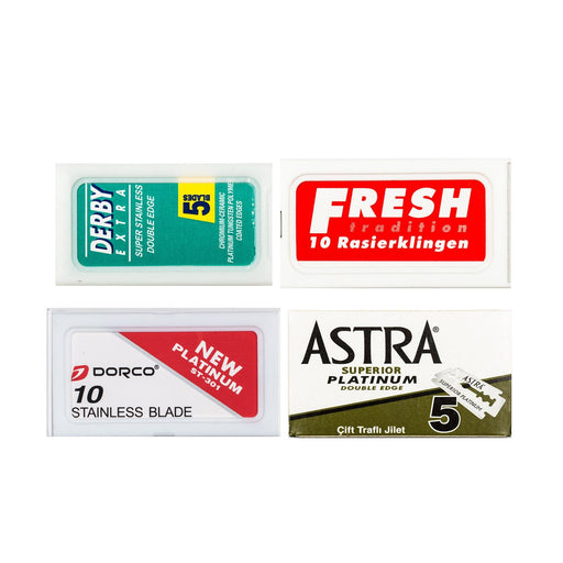 40pc Razor Blade Sampler: Fresh, Dorco, Derby and Astra