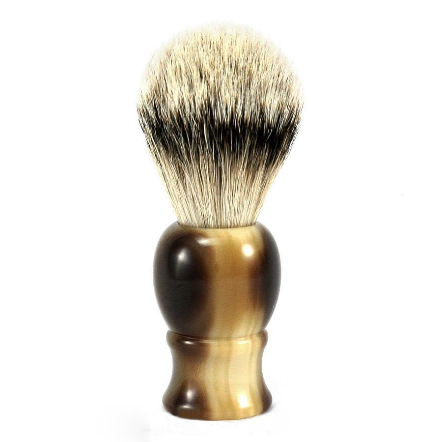 Fendrihan Classic Silvertip Shaving Brush Badger Bristles Shaving Brush Fendrihan Faux Horn