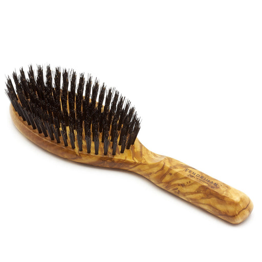 Men's Olivewood Bristle Hairbrush - Made in Germany - Fendrihan - 1