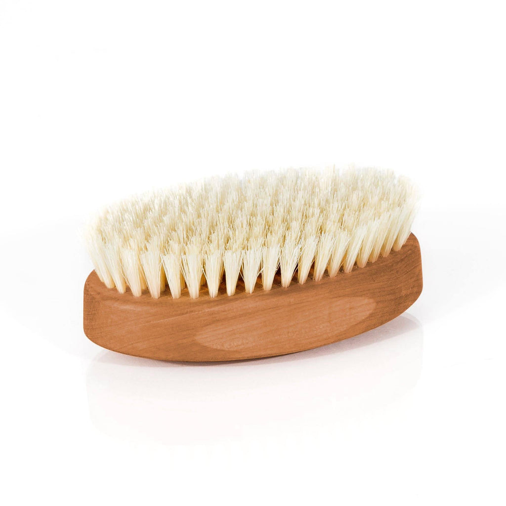 Men's Pearwood Military Hairbrush with Soft Light Bristles - Made in Germany - Fendrihan - 4
