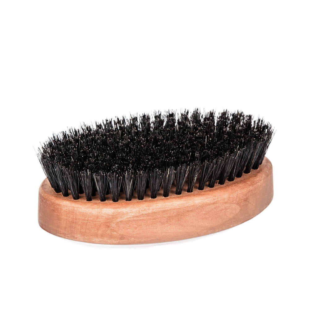 Men's Pearwood Military Hairbrush with Pure Soft or Wild Boar Bristles - Made in Germany - Fendrihan - 3