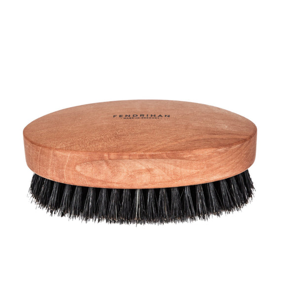 Men's Pearwood Military Hairbrush with Pure Soft or Wild Boar Bristles - Made in Germany - Fendrihan - 4