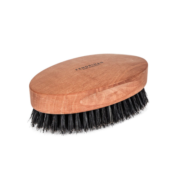 Men's Pearwood Military Hairbrush with Pure Soft or Wild Boar Bristles - Made in Germany - Fendrihan - 2