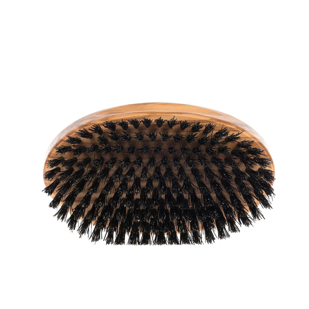 Men's Olivewood Military Hairbrush with Wild Boar Bristles - Made in Germany Hair Brush Fendrihan