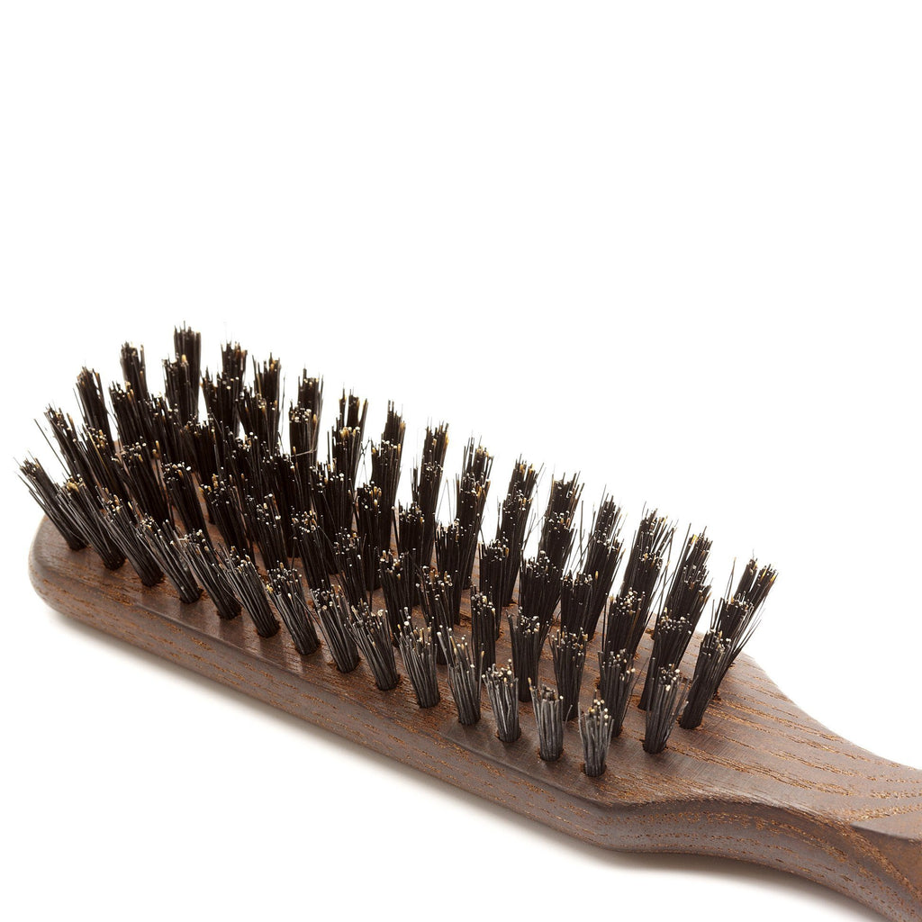 5 Row Thermowood Ash Hairbrush with Boar Bristles - Made in Germany - Fendrihan - 2