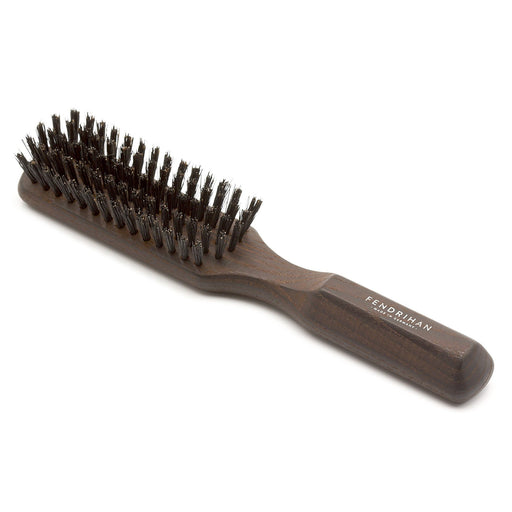 5 Row Thermowood Ash Hairbrush with Boar Bristles - Made in Germany - Fendrihan - 1
