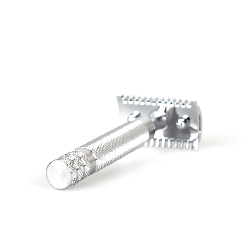 "Fendrihan ""Kingston"" Open Comb Safety Razor Head with Fendrihan Stainless Steel Handle Double Edge Safety Razor Fendrihan"