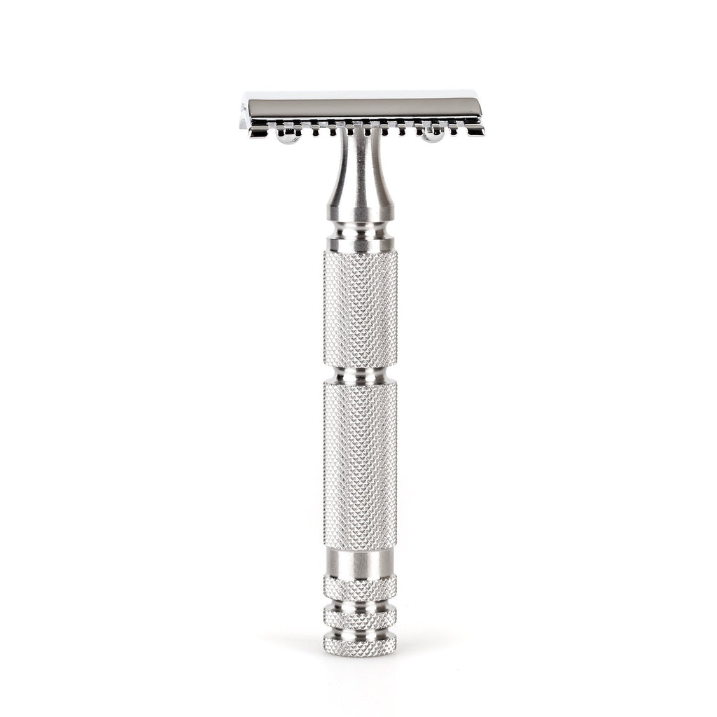"Fendrihan ""Kingston"" Open Comb Safety Razor Head with Fendrihan Stainless Steel Handle Double Edge Safety Razor Fendrihan Adventurer"