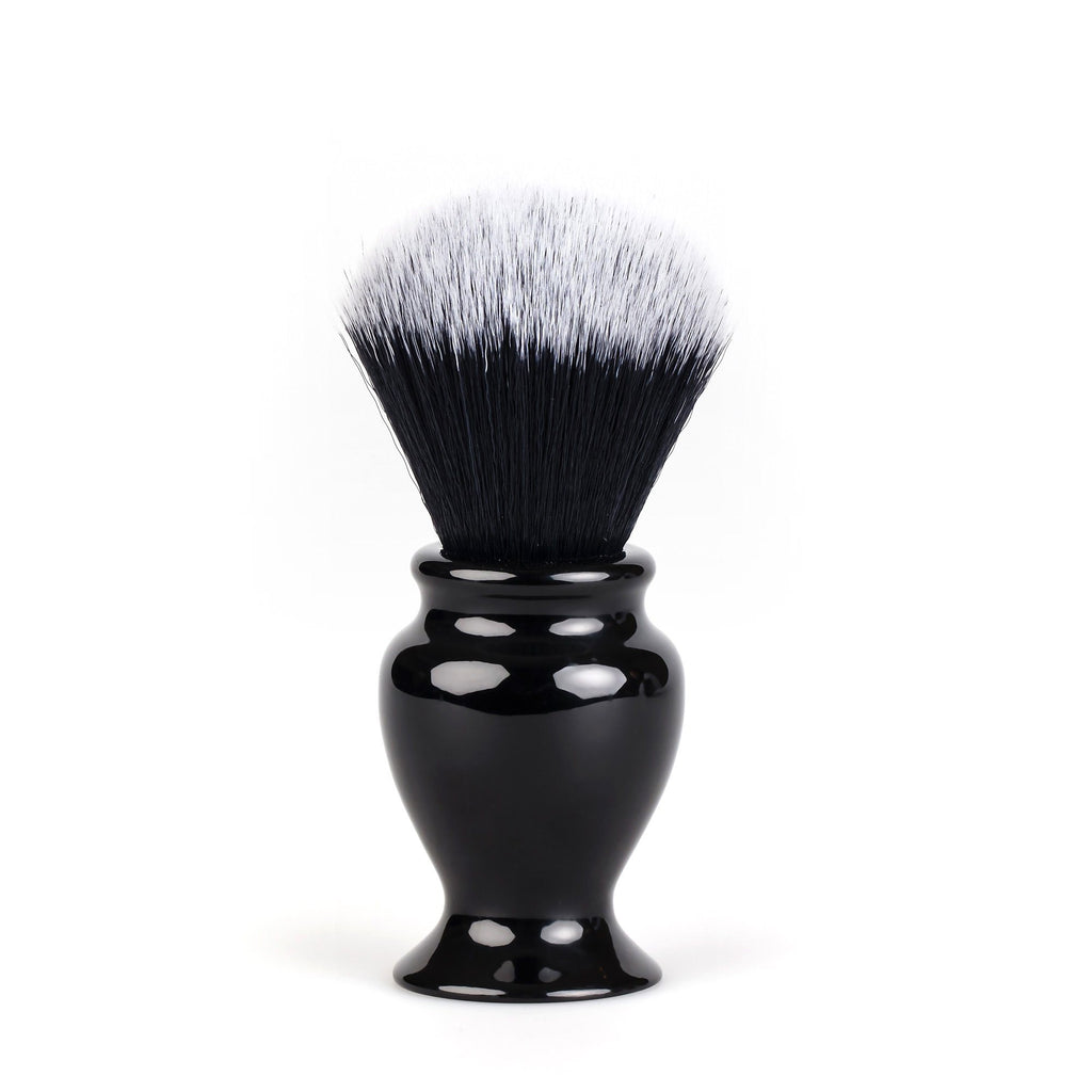 Fendrihan Black and White Synthetic Shaving Brush, Resin Handle