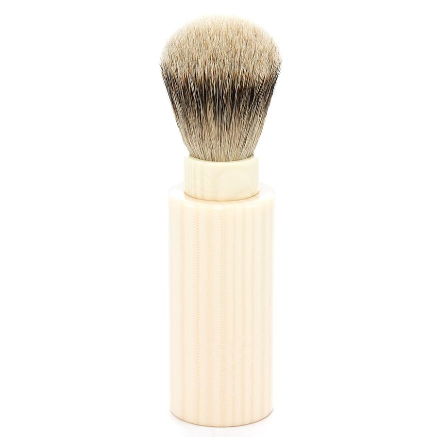 Silvertip Badger Hair Turnback Travel Shaving Brush Badger Bristles Shaving Brush Fendrihan Faux Ivory