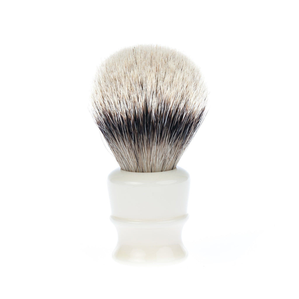 Fendrihan High Mountain White Badger Shaving Brush, Ivory Handle