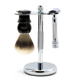 Merkur 34C HD 3-Piece Classic Wet-Shaving Kit, Save $25 Shaving Kit Fendrihan Black