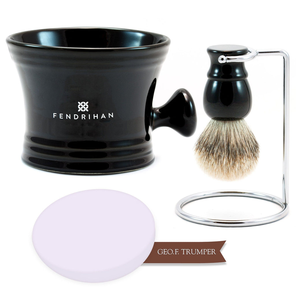 Lather Machine Combo with Geo F Trumper Shaving Soap, Save $20 Shaving Kit Fendrihan