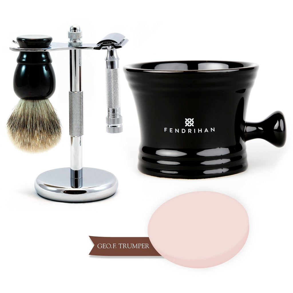 5-Piece Merkur 34C Set with Geo F Trumper Shaving Soap Shaving Kit Fendrihan