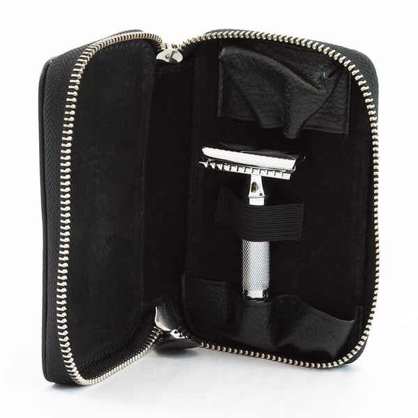 Merkur Safety Razor Set with Pebbled Leather Case, Save $10 - Fendrihan - 2