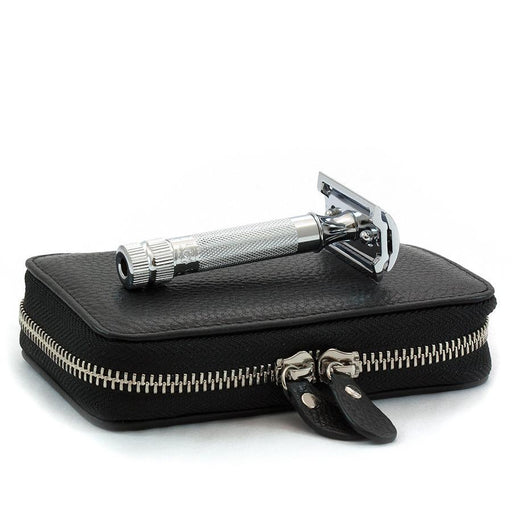 Merkur Safety Razor Set with Pebbled Leather Case, Save $10 - Fendrihan - 1