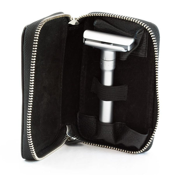 Merkur Safety Razor Set with Pebbled Leather Case, Save $10 - Fendrihan - 5