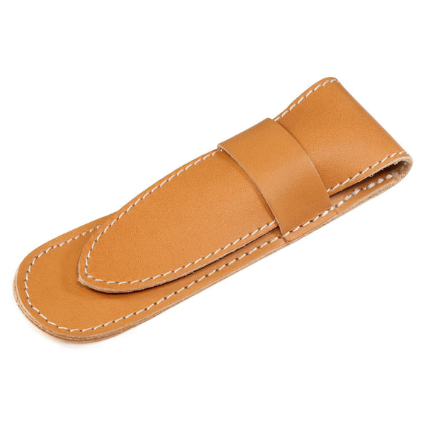 Fendrihan Tan Natural Leather Case for Straight Razor - Fendrihan - 1
