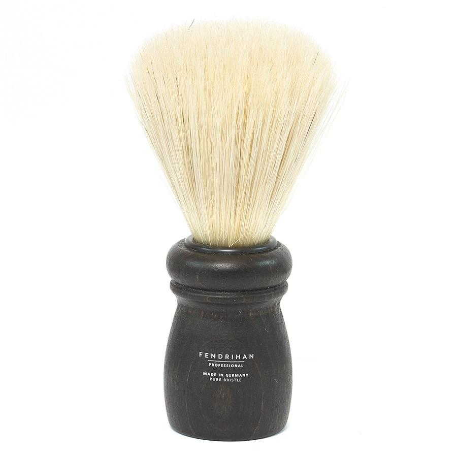 Fendrihan Professional Boar Bristle Shaving Brush, Black Beech Wood Handle Boar Bristles Shaving Brush Fendrihan