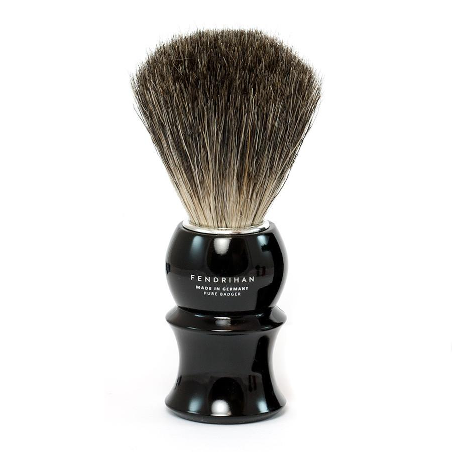 Fendrihan Pure Badger Shaving Brush With Stand Black Handle