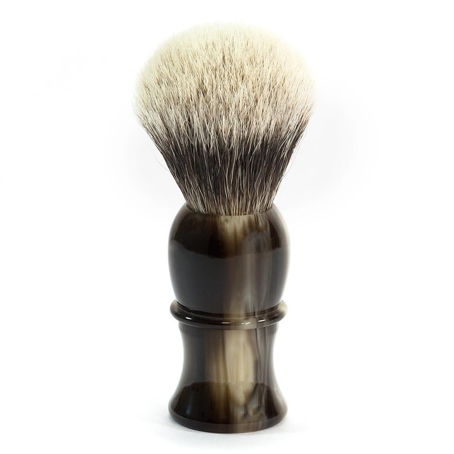 Fendrihan Classic Premium Silvertip Large Shaving Brush, Faux Horn Handle Badger Bristles Shaving Brush Fendrihan