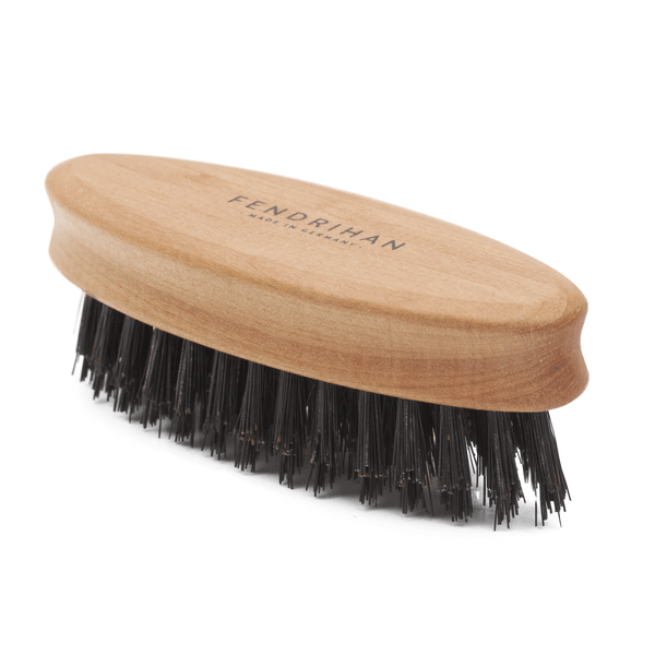 Oval Pear Wood Beard Brush - Made in Germany