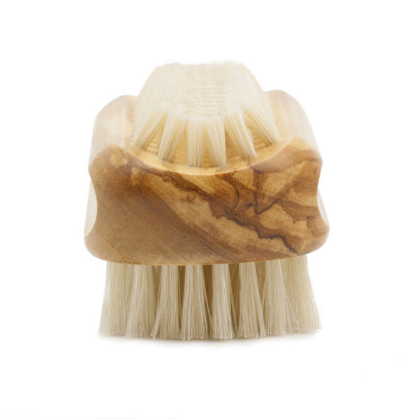 Olive Wood Hand and Nail Brush with Pure Natural Bristles - Made in Germany - Fendrihan - 2