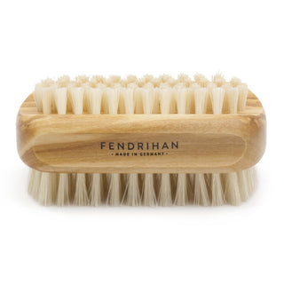 Olive Wood Hand and Nail Brush with Pure Natural Bristles - Made in Germany Nail Brush Fendrihan