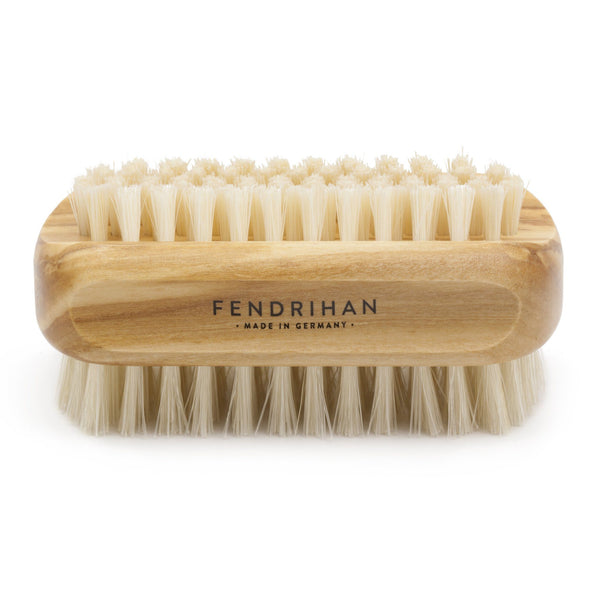 Olive Wood Hand and Nail Brush with Pure Natural Bristles - Made in Germany - Fendrihan - 1