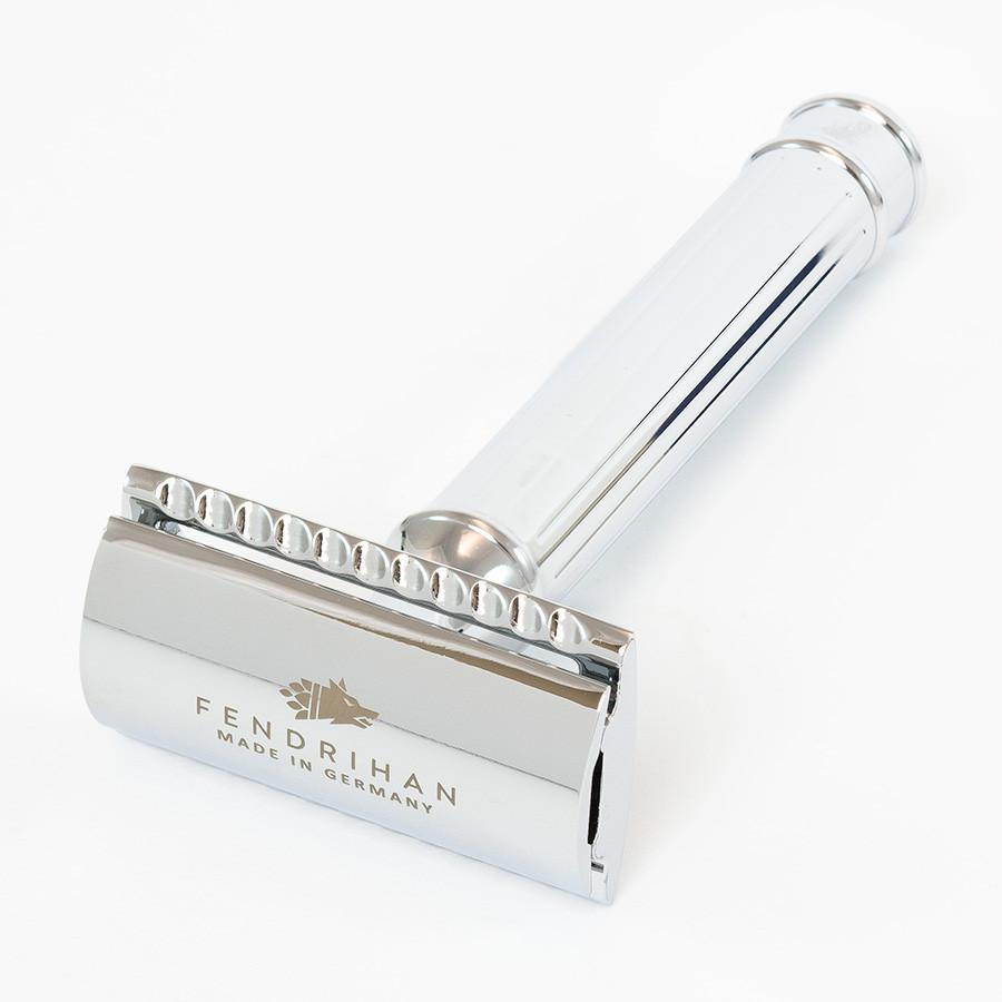 Dacian Draco Double Edge Classic Safety Razor, Lined Handle - Fendrihan - 2