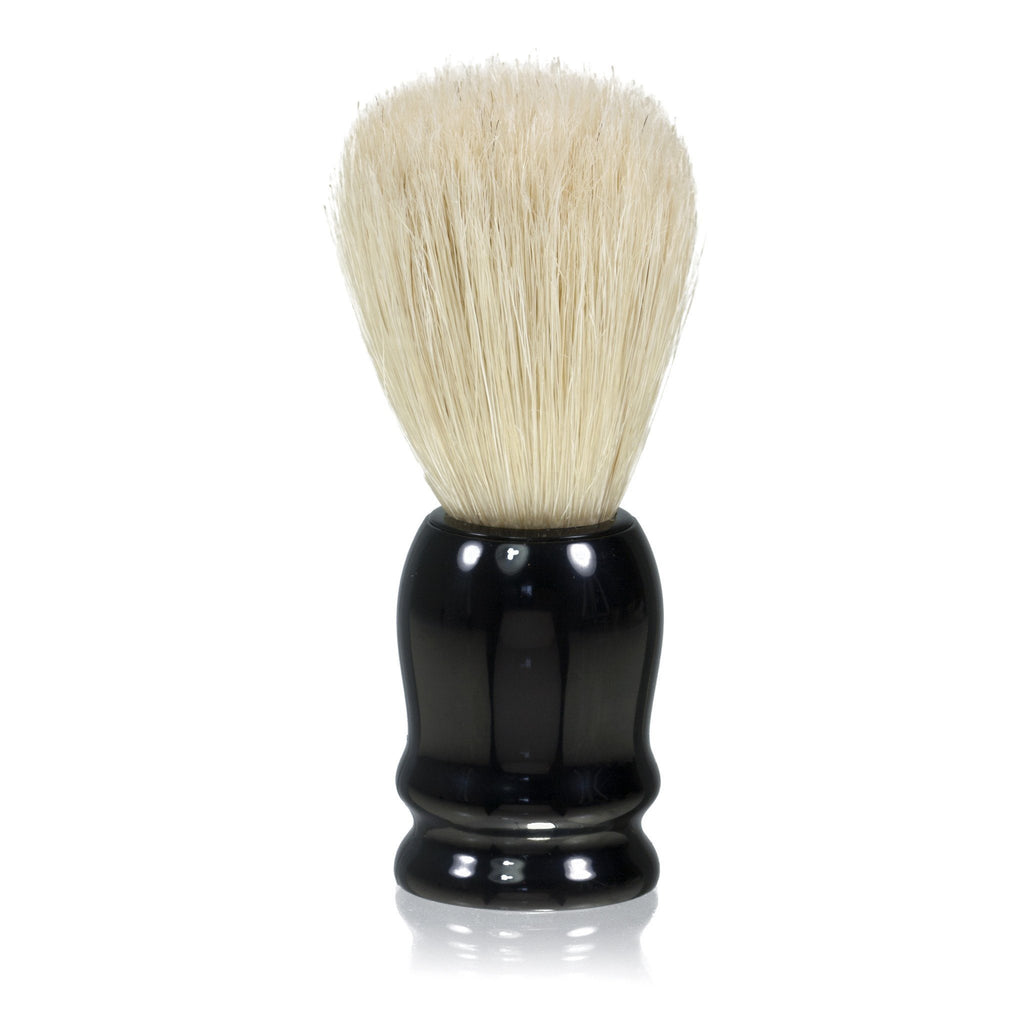 Fendrihan White Boar Bristle Shaving Brush, Black Handle - Fendrihan