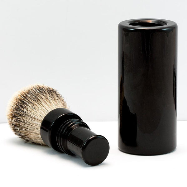 Silvertip Badger Hair Turnback Travel Shaving Brush, Black - Fendrihan - 3