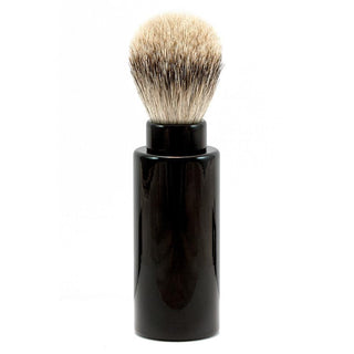 Silvertip Badger Hair Turnback Travel Shaving Brush Badger Bristles Shaving Brush Fendrihan Black